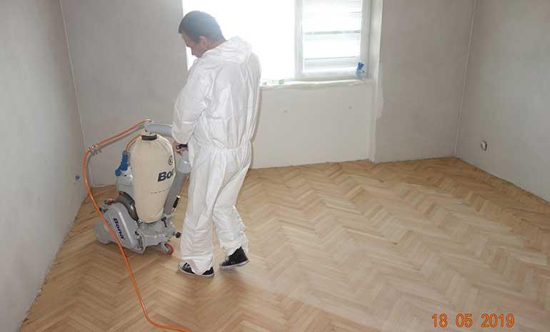 ochranné odevy - brusenie podlahy